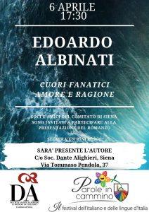 Albinati cuori fanatici - book cover at DA Siena